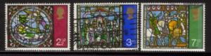 Great Britain Sc 661-3 1971 Christmas stamps used
