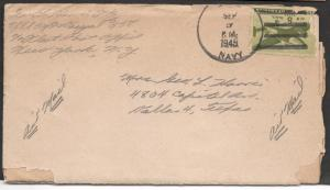 Soldiers letter to sweetheart - Sept. 1945
