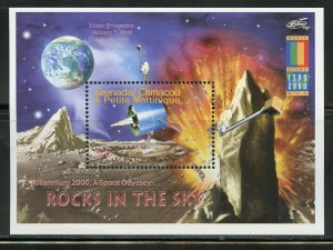 GRENADA GRENADINES ROCKETS IN THE SKY SET OF TWO SOUVENIR SHEETS  MINT NH
