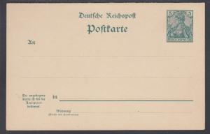Germany Mi P56 mint 1901 5pf + 5pf Postal Reply Double Card, VF