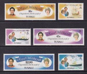 Tuvalu  #157-162   MNH   1981  royal wedding lady Diana