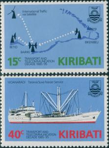Kiribati 1985 SG249-250 Transport and Communications set MNH