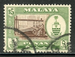 Malaya, Penang # 66, Used. CV $ 10.50