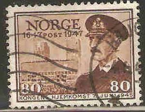 Norway Used Sc 289 - Return of King Haakon VII