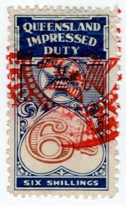 (I.B) Australia - Queensland Revenue : Impressed Duty 6/-