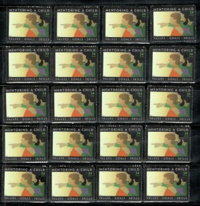 3556 Mentoring A Child Wholesale Lot Of 20 Singles MNH Below Face FREE SHIPPING