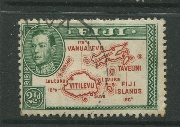 Fiji - Scott 134 - KGVI - Definitive - 1941 - Used - Single 2.1/2p - Stamp