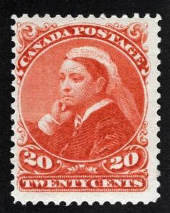 CANADA 46 Vermillion Original Gum Hinged