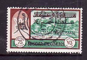 Oman-Sc#129- id5-used Samail Fort overprinted-1971-