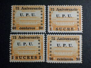 Ecuador Scott #C210-213 unused