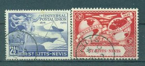 St. Kitts & Nevis sc# 95-98 used cat value $5.55