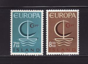 Iceland 384-385 Set MNH Europa (A)