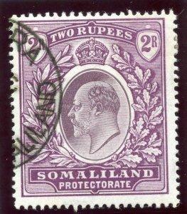 Somaliland 1904 KEVII 2r dull & bright purple very fine used. SG 42. Sc 37.