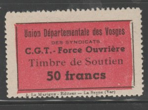 France and Colonies revenue Fiscal stamp 11-9-20 MNH Gum- Nice