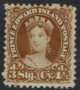PRINCE EDWARD ISLAND 1870 QV CHALON 3D (41/2C) NO GUM