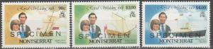 Montserrat #465, 467, 469  MNH F-VF  Specimen (SU4520)