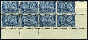 CANADA SC# 54 SG# 127 MINT NEVER HINGED CORNER BLOCK OF EIGHT AS SHOWN