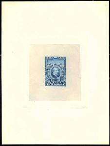 RD20TC1, BLUE ON INDIA DIE SUNK ON 150x197MM Card - VF