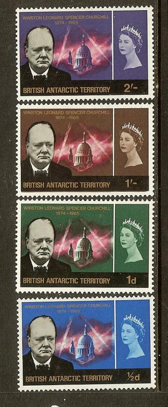 British Antarctic Territory, Scott #'s16-19, Churchill Memorial, MH