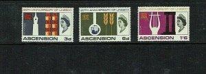 Ascension: 1967, 25th Anniversary of UNESCO, MNH set