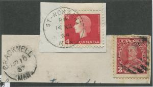 MANITOBA TOWN CANCELS x2 (16)