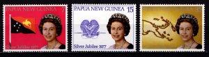 Papua New Guinea 1977 National Flag and Queen Elizabeth II, Set [Mint]