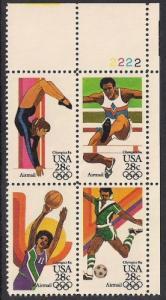 C101-12 & C105A-8A Olympics 4 blocks Stamp mint OG NH VF-XF