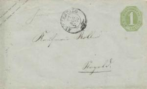 Germany Wurttemberg 1Kr Numeral Envelope 1870 Altenstaig to Nagold.