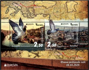 HERRICKSTAMP NEW ISSUES BOSNIA & HERZEGOVINA EUROPA 2020  S/S