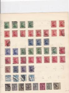 Uruguay Stamps on album page Ref 15600