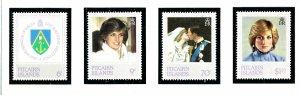 Pitcairn Is 213-16 MNH 1982 Princess Diana     (KA)