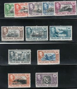 Falkland Islands #84s - #96s Very Fine Never Hinged Set W\ Specimen Perforations