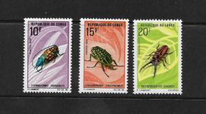 INSECTS - CONGO #226-8  MNH