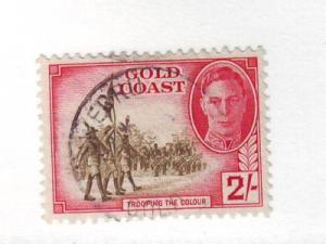 Gold Coast Sc 139 1948 2/ G VI & Trooping Colours stamp used
