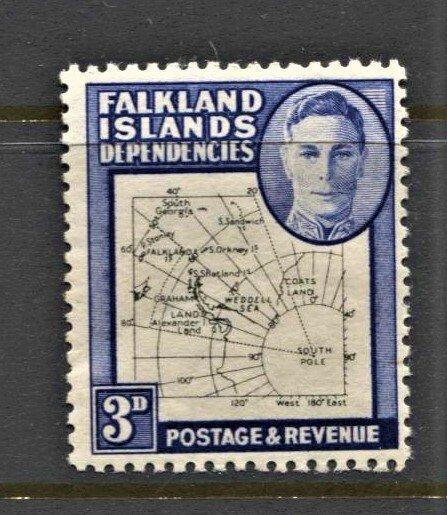 STAMP STATION PERTH -Falkland Is.Dep.#1L4 MNH OG VF Thin Maps CV$25 (Set CV$130)