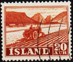 Iceland. 1950 20a S.G.298 Fine Used