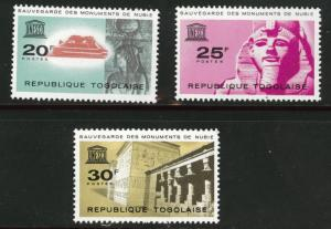 TOGO Scott 476-8 MNH** UNESCO set 1964 CV$1.45