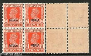 India PATIALA KGVI 2As SERVICE SG O78 / Sc O70 £40 MNH
