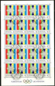 LIECHTENSTEIN Sc#772-774 1983 Winter Olympics Complete Sheets of 20 CTO