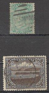 COLLECTION LOT OF #1754 AUSTRALIA STATE TASMANIA  #61+90