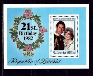 Liberia 961 MNH 1982 souvenir sheet
