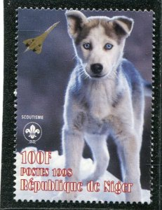 Niger 1998 DOG CONCORDE Scout Emblem 1 value Perforated Mint (NH)