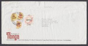 Tonga Sc 431, 432, O64 on 1985 OHMS Cover to Jamaica