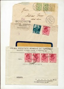 Romania Early/Mid Covers To Germany Incl.Perfin(11 Items)NS08