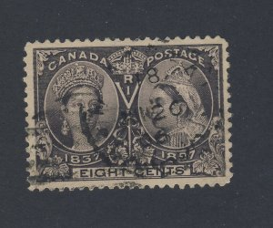 Canada Victoria Jubilee Stamp #56-8c Used VF Guide Value = $100.00
