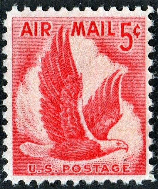 SC#C50 5¢ Eagle Single (1958) MNH