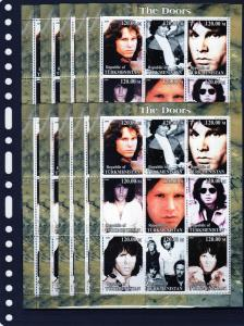 Turkmenistan 2000  The Doors  Shlt (9) MNH x 10 of each