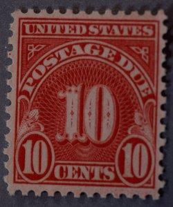 United States #J84 10 Postage Due MNH