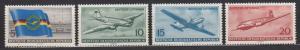 East Germany - 1956 Lufthansa Sc# 280/283 - MH (746N)