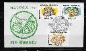 DOMINICAN REPUBLIC STAMPS,COVER NAVIDAD  1975 #F22